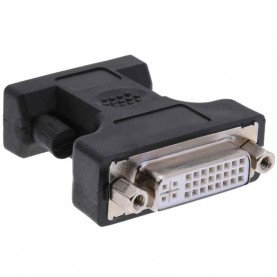 Alloyseed 24+5Pin DVI Female to 15Pin VGA Male Cable Extender Adapter Connector for connecting HDTV CRT Monitor Projector