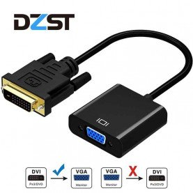 DZLST DVI To VGA Converter HD 1080P DVI Male 24+1 Pin To VGA Female Video Cables For HDTV PS3 PS4 PC Display DVI To VGA Adapter