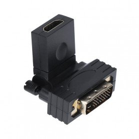 360 Degree Rotating DVI 24+1 to HDMI Adapter HDMI Male to DVI Female Converter 1080P Support for Computer to Display Screen