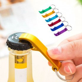 Portable 4 in 1 Bottle Opener Key Ring Chain Keyring Keychain Metal Beer Bar Tool Claw Gift Unique Creative Gift Random color