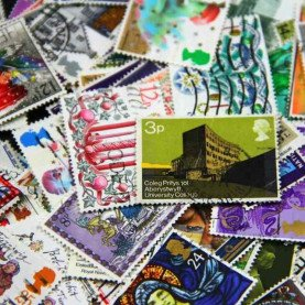100 PCS/Lot No Repeat British Postage Stamps Collections From United Kingdom With Post Marks Stamp Postal All Used, Collection