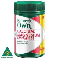 Alam sendiri kalsium dan magnesium dengan vitamin D3 200 tablet ukuran eksklusif