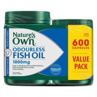 Alam sendiri kapsul minyak ikan Odourless 1000mg 600 paket eksklusif