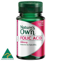 Nature's Own folic acid 500mcg 100 tablet