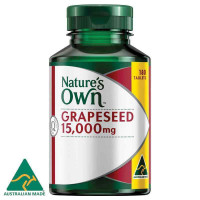 Nature's Own Grape Seed 15000mg 180 tablet eksklusif