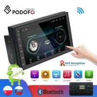 Podofo 2din Car radio pemutar multimedia Android Autoradio 2 Din