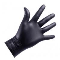 NITRYLEX NITRILE NITRYLEX Gloves, 100pcs (50 pasang), hitam, bebas bubuk