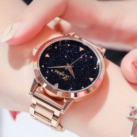 Wanita Dress watches Rose Gold stainless steel Lvpai merek fashion Ladies jam tangan kreatif Quartz Clock jam tangan mewah murah