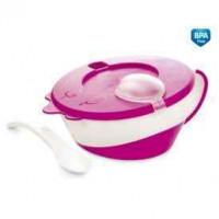 CANPOL bayi Bowl dengan tutup dan sendok