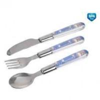 CANPOL bayi alat makan logam untuk anak (sendok, garpu, pisau)