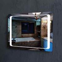 Hot menjual dinding besar modern tergantung cermin terpasang cermin dekoratif cahaya untuk kamar mandi
