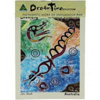 Aboriginal Art Canvas gaya 1-kecil