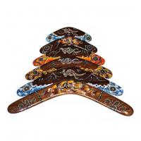 Australia Dark Wood Boomerang-ukuran 12 inci