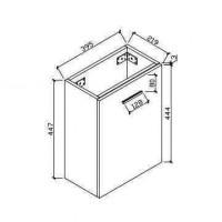 Lemari kamar mandi (HAV400-WH)